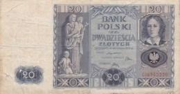 Pologne - Billet De 20 Zlotych - 11 Novembre 1936 - Pologne