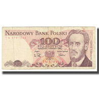Billet, Pologne, 100 Zlotych, 1988, KM:143b, TTB - Polen