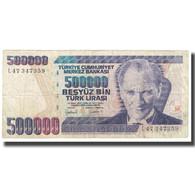 Billet, Turquie, 500,000 Lira, KM:212, TTB - Turquie