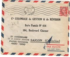 18245 - PARIS SAIGON  30/50 - Poste Aérienne