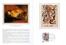 """""""SALVADOR DALI """" Sur Encart 1er Jour 4 Pages N°té Sur Soie De 1979. N° YT 2067. FDC - Moderne"""