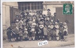 BOURGES- CARTE-PHOTO- GROUPE D ENFANTS EN VISITE AU PALMARIUM- PHOTO CHASSEL ET BOUCHE-PILLON - Bourges