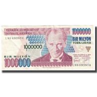 Billet, Turquie, 1,000,000 Lira, KM:213, TTB - Turquie