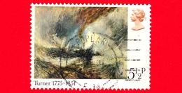 GB - GRAN BRETAGNA - 1975 - 200 Anni Della Nascita Di J.M.W. Turner (pittore) - 'Snowstorm - 5 ½ - 1952-.... (Elisabetta II)