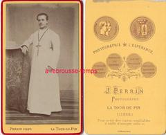 CDV Homme-prêtre Missionnaire? Photo Perrin La Tour Du  Pin (Isère) Très Bel état - Photos