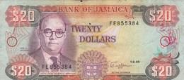 Jamaïque - Billet De 20 Dollars - Noel N. Nethersole - 1er Septembre 1989 - Giamaica
