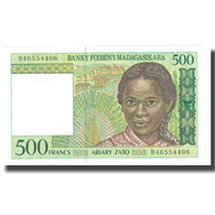 Billet, Madagascar, 500 Francs = 100 Ariary, 1994, KM:75b, TB - Madagascar