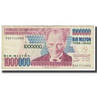 Billet, Turquie, 1,000,000 Lira, 1970, KM:213, TTB - Turquie