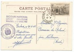 N° 466 SEUL  CARTE TOULOUSE 24.4.1941 AU TARIF RARE - Postmark Collection (Covers)