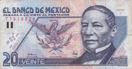 Mexique - Billet De 20 Nuevos Pesos - Benito Juarez - 10 Décembre 1992 - México