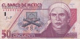 Mexique - Billet De 50 Nuevos Pesos - José Maria Morelos - 10 Décembre 1992 - México
