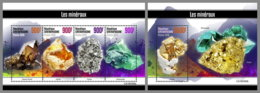 CENTRAL AFRICA 2019 MNH Minerals Mineralien Mineraux M/S+S/S - OFFICIAL ISSUE - DH1922 - Minerali