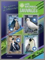 CENTRAL AFRICA 2019 MNH Antarctic Animals Tiere Der Antarktis Animaux De Antarctique M/S - IMPERFORATED - DH1922 - Faune Antarctique