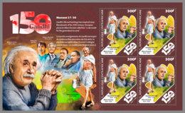 CENTRAL AFRICA 2019 MNH Albert Einstein Mahatma Gandhi M/S I - IMPERFORATED - DH1922 - Albert Einstein