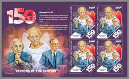 CENTRAL AFRICA 2019 MNH Albert Einstein Mahatma Gandhi M/S II - IMPERFORATED - DH1922 - Albert Einstein