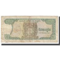 Billet, Cambodge, 200 Riels, KM:37a, TB - Cambodia