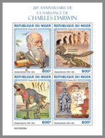 NIGER 2019 MNH Charles Darwin Dinosaurs Dinosaurier Dinosaures M/S - OFFICIAL ISSUE - DH1922 - Stamps