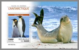 NIGER 2019 MNH Antarctic Animals Tiere Der Antarktis Animaux Antarctique S/S - OFFICIAL ISSUE - DH1922 - Antarctic Wildlife