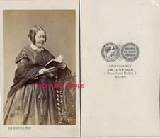 CDV Superbe-mode -second Empire-femme Lisant-très Bel état-photo Dufour à Dijon - Photos