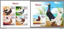 SIERRA LEONE 2019 MNH Pigeons Doves Tauben M/S+S/S - OFFICIAL ISSUE - DH1922 - Columbiformes