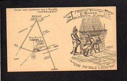 """Carte De Visite / Auberge Historique  """"Le Bivouac"""" Lion De Waterloo (Belgique) / Grande Armée De Napoléon - Visitenkarten"""