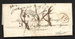 Charente Inferieure-Lettre De Saintes (Cachet Type 13) Pour L'Hermitage Par Pezenas Herault - Postmark Collection (Covers)
