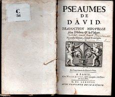 PSAUMES DE DAVID TRADUCTION NOUVELLE - Jusque 1700