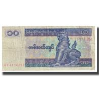 Billet, Myanmar, 10 Kyats, KM:71b, TB - Cambodia