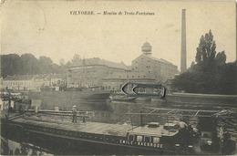 Vilvoorde : Moulin De Trois Fontaines  (  Boot Binnenscheepvaart Emile Baasrode )  Kaart 1907 Met Zegel - Vilvoorde