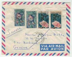 Océanie // Nouvelle Calédonie // Lettre Par Avion Pour Genève - Nouvelle-Calédonie