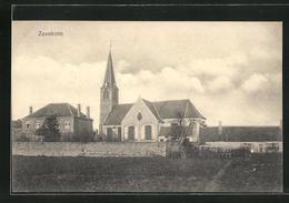 AK Zevekote, Blick Auf Kirche Und Umgebung - Bélgica