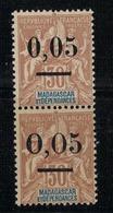 MADAGASCAR             N° YVERT  :  52 I/52 II   NEUF SANS GOMME        ( SG     1/26 ) - Madagascar (1889-1960)