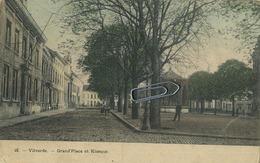 Vilvoorde - Vilvorde : Grand Place Et Kiosque    ( 1909 Met Zegel )    IN KLEUR - Vilvoorde