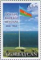 Az  1129 MNH** Azerbaijan Aserbaidschan 2015 National Flag Square - Aserbaidschan