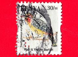 KENIA - Usato - 2014 - Uccelli - Red-and-yellow Barbet (Trachyphonus Erythrocephalus) - 30 - Kenia (1963-...)