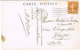 AFFRANCHISSEMENT 1ER JANVIER 1929 FLIER NICE SUR CPA - Marcophilie (Lettres)