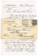 AFFRANCHISSEMENT 1ER JANVIER 1997 SUR COURRIER POUR LA SUISSE ZURICH AVEC CONTENU - Marcophilie (Lettres)
