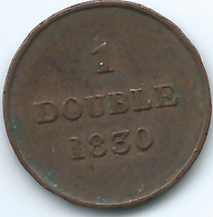 Guernsey - 1830 - 1 Double - KM1 - Guernsey