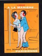 Illustrateur Dessin (A) Alexandre / Série : L'Amour à La Maniére ...Parisienne /  Vous Descendez à La Prochaine ? - Alexandre