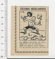 Presse 1935 Humour Légume-médicament Oignon Ail Echalotte Contre Les Vers Thème Plante Potager 51D21 - Vecchi Documenti