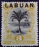 Borneo 1894 Arbre Palmier Palm Tree Surchargé Overprinted LABUAN Yvert 50 * MH - North Borneo (...-1963)