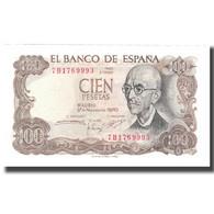 Billet, Espagne, 100 Pesetas, 1970, 1970-11-17, KM:152a, NEUF - [ 3] 1936-1975 : Regime Di Franco