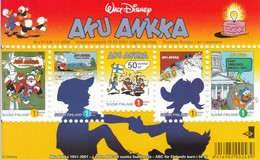 MWD-BK6-219 MINT PF/MNH ¤ FINLAND 2001 ¤ 501e ANN. AKU ANKKA - THE WORLD OF WALT DISNEY -- FRIENDS OF WALT DISNEY - Disney