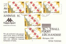 5 X £80 CROCE ROSSA ITALIANA ANN. PIATEDA SO - Croce Rossa