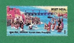 INDIA 2019 Inde Indien - KUMBH MELA PRAYAGRAJ 1v MNH ** - Religion Hinduism Temples Monks River Bridge - Hinduism