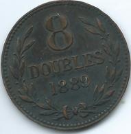 Guernsey - 1889 - 8 Doubles - KM7 - Guernsey
