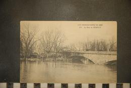 CP, 92, NEUILLY SUR SEINE -Les Inondations De 1910 - N°833 - Le Pont De NEUILLY-SUR-SEINE - Neuilly Sur Seine