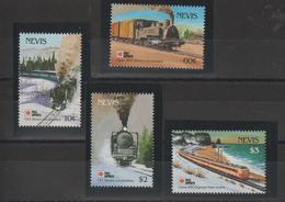 Nevis 1991 Trains Série 606-9 4 Val ** MNH - St.Kitts-et-Nevis ( 1983-...)