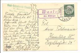 Landpoststempel Waake über Göttingen 4.12.37 - Briefe U. Dokumente