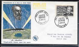 FDC 1955 - 1026  Cinquantenaire De La Mort De Jules Verne - FDC